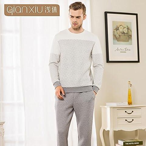 Kit de parejas de invierno y un paquete de homewear Men's Sports Lounge pijamas series L-YU&XIN