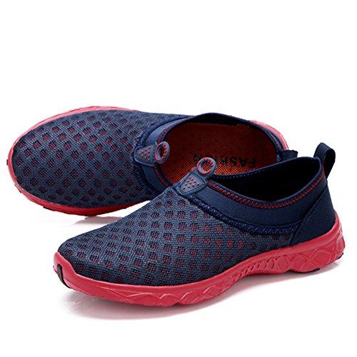 SAGUARO Unisex Breathable Schnell Trocknend Aquaschuhe Sommer Schwimmschuh Mesh-oberfläche Schuhe Strandschuhe für Damen Herren Rot