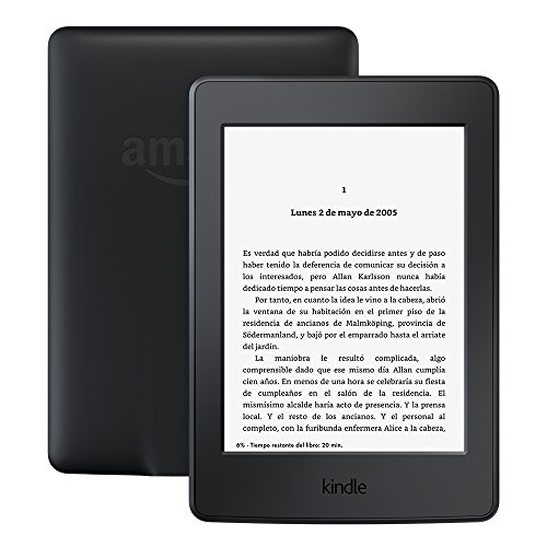"E-reader Kindle Paperwhite, 6"" (15,2 cm) de alta resolución (300 ppp) con luz integrada, wifi (Negro)"