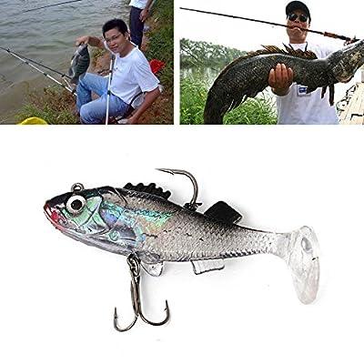 Dairyshop Paillette Fishing Lure 8.5cm Artificial Soft Carp Crank Bait with Hooks 1pc by Dairyshop