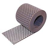 Traufgitter PVC braun 100 mm / 5 m Rolle
