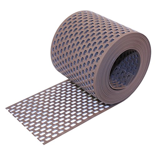Traufgitter PVC braun 150 mm / 5 m Rolle