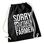HippoWarehouse Sorry Im Already Taken By A Super Hot Farmer Drawstring Cotton School Gym Kid Bag Sack 37cm x 46cm, 12 litres