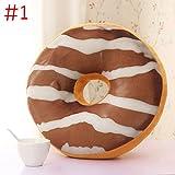 Cxsions Lustige Simulation Pralinen Donut Kissen Kissen Weihnachten Donuts Kissen Auto Matten Sofa Sitz Dekor Weihnachten Kinder Geburtstagsgeschenk Spielzeug Kissen MYDING Plüschtier Brot Kissen