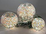 Formano Mosaikkugel Multi mit Licht Kuel Lichterkugel bunt blau orange 562678 562685 562692, Größe:15 cm