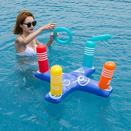 derspiele Ring Wurfspiele für Kinder und Outdoor-Spielzeug halten Kinder aktiv aufblasbare Wasser werfen Ringe Kreuz Ring pädagogisches Spielzeug ()
