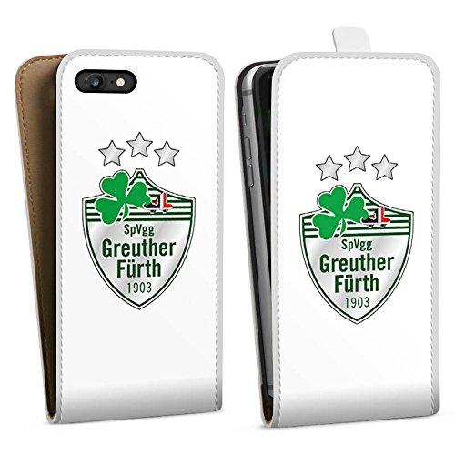 Apple iPhone X Silikon Hülle Case Schutzhülle Greuther Fürth Fanartikel Bundesliga Fußball Downflip Tasche weiß