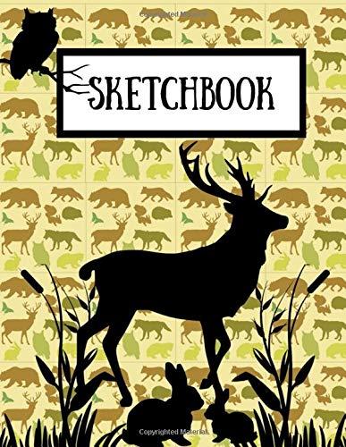 Sketchbook: Nature Wildlife Stag Art Gift - SKETCHBOOK, 130 pages, 8.5