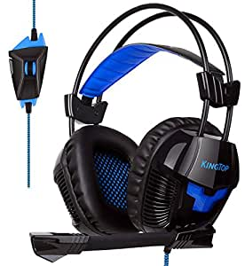 casque pour ps4 kingtop gaming headset avec micro r glable. Black Bedroom Furniture Sets. Home Design Ideas