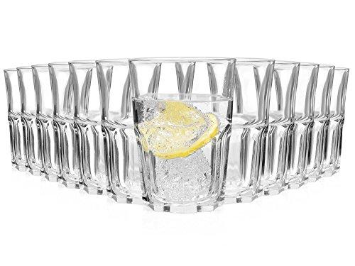 Bluespoon Longdrinkgläser Granity 12er Set   Füllmenge der Cocktailgläser 350 ml   ØxH der Trinkgläser 8,5x12 cm   Hochwertige Universalgläser für jeden Anlass