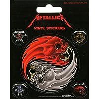 Pyramid International Metallica (Yin et Yang Skulls-pushead) Stickers muraux en vinyle, papier, Multicolore, 10x 12.5x 1.3cm