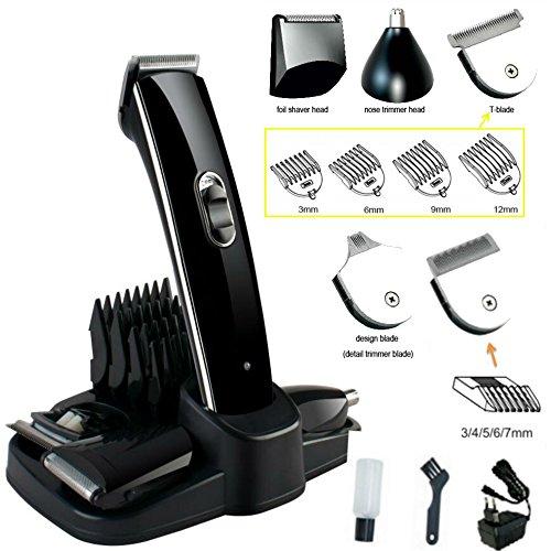 Eurosell Premium HT-20A Akku Haarschneider Haarschneidemaschine Set + Aufsätze + Rasierer + Nasenhaar Trimmer Haar Schneide Maschine Cutter