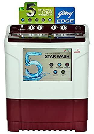 Godrej 7 kg Semi-Automatic Top Loading Washing Machine (WS 700 CT, Wine Red)