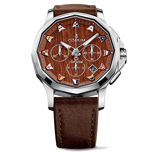 Corum Men's Admiral's Legend 42 42mm Brown Leather Band Steel Case Automatic Watch 984.101.20/OF62 AW12