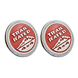 #6: Trail Rated Red Color Round Logo Badge Emblem 4x4 Offroad Sticker 2 Piece For Nissan - X-Trail