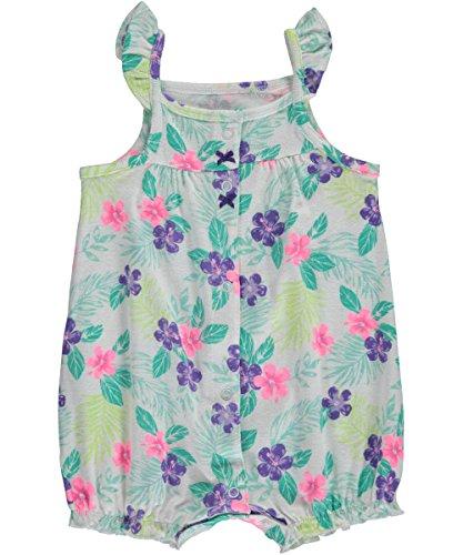 Carters Jumpsuit (Carter's Sommer Baby Spieler Strampler onesie Mädchen girl jumpsuit Einteiler (3 Monate, Mehrfarbig - White/Green))