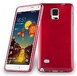 Cadorabo Custodia per Samsung Galaxy Note 4 in Rosso Cremisi - Morbida Cover Protettiva Sottile di Silicone TPU con Bordo Protezione - Ultra Slim Case Antiurto Gel Back Bumper Guscio