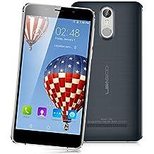 "Leagoo M8 - 3G Smartphone Libre Android 6.0 (Pantalla 5.7"" HD, 1.3GHz MT6580 Quad Core, 2GB RAM 16GB ROM, Cámara Dual 13.0MP+8.0MP, Dual SIM, Touch ID, GPS WIFI Bluetooth, Smart Wake) (Gris)"