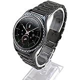 Cuitan 20mm Acero Inoxidable Correa de Reloj para Samsung Galaxy Gear S2 Classic Smart Watch (No se Incluyen los Relojes), Sólido Banda Reemplazo Watchband Strap para Samsung Gear S2 Classic - Negro