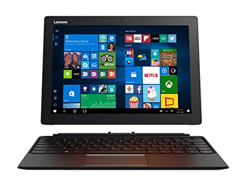 Lenovo MIIX 720 30,48cm (12 Zoll QHD IPS) Tablet-PC (Intel Core i7-7500U, 8GB RAM, 256GB SSD, Intel HD Grafik 620, Windows 10 Pro) schwarz inkl. Tastatur