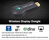 [Upgraded Version] Miracast Dongle, Foxcesd 5G WIFI Display Dongle HDMI Adapter Receiver 1080p Streaming Media Player Share Videos Images Docs Live Camera Musics from All iPhone, iPad, Samsung Andorid Smart Devices to TV, Monitor or Projector, For iOS 6.0 & Andorid 5.0 Above