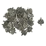 #9: Baoblae Tibeten Silver Tree of Life Charms Beads Pendants DIY Necklace Making Jewellery Findings Pack of 50