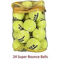 24 Tennis Balls Super Bounce Balls With Bag (100% Better Bounce Than Normal Balls)