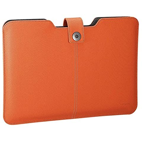 """Targus Laptop Sleeve / Notebook Carry Case for 13"""" MacBook Pro & Air & All Ultra Slim Laptops up to 13.3"""" in Orange"""