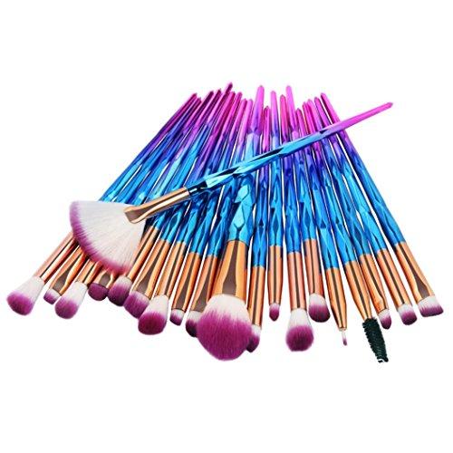 Rosennie_Beauty 20PCS Diamanten Makeup Pinsel Set bilden Foundation Eyebrow Eyeliner erröten kosmetische Concealer Pinsel Geschenkset Frauen Lidschatten Pinselset Kosmetische Werkzeuge (C)