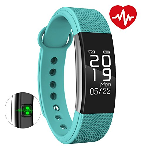 Bingo F1 Waterproof Smart Band With Heart Rate Monitoring Compatible With All Android And IOS Device (Sea Green)