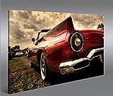 islandburner Bild Bilder auf Leinwand Amischlitten V2 1p XXL Poster Leinwandbild Wandbild Dekoartikel Wohnzimmer Marke