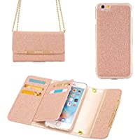 iPhone Wallet Case 8, TechCode Women cute style Candy Color PU Leather Stand Cover Flip Lady Multi envelope Wristlet HandBag Clutch wallet case for iPhone 8