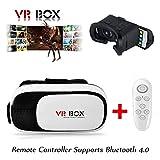 Actualizado Gafas 3d VR gafas de realidad virtual VR Box 2.0+ mando a distancia para iPhone 6/SamsungGalaxy/iOS Android Smartphone
