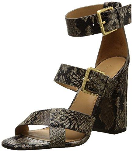 Calvin Klein  Luana,  Damen Sandalen , Braun - Braun - Marron (Nat/Mosaic Snake) - Größe: 39