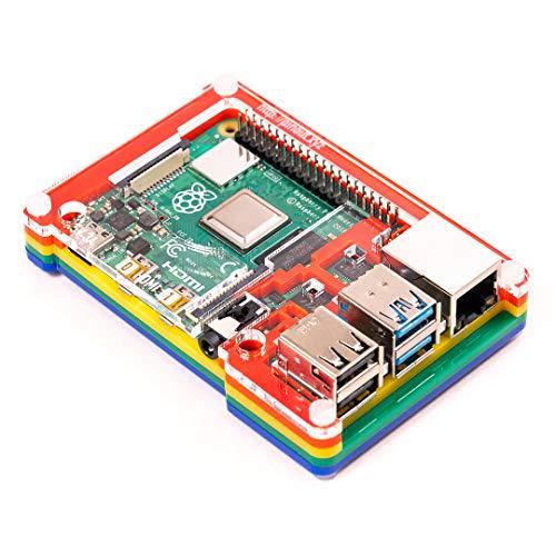 Pibow Coupé 4 (nur für Raspberry Pi 4) - Rainbow (Raspberry Pibow)