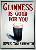 Vintage Bières, vins et spiritueux Guinness est bon pour vous, vous donne la force 250g/m² Brillant Art carte Format A3