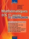 Image de Mathématiques ECS 1re année Le compagnon : Essentiel du cours, Méth