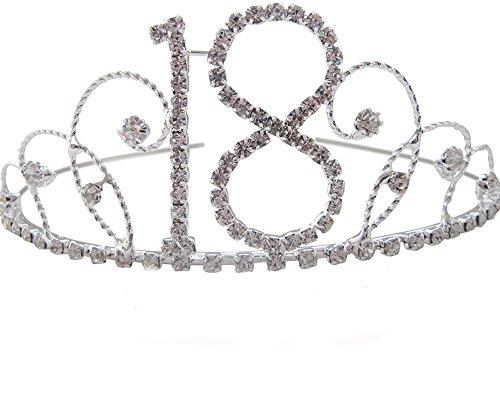 18. Geburtstag Tiara 18. Geschenk Idee mit Kristall Geburtstag Tiara
