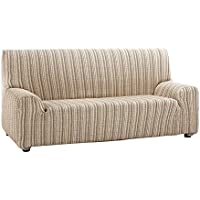 Funda de sofá elástica modelo MEJICO, 3 plazas, color BEIGE  de 180 a 240 cm de ancho