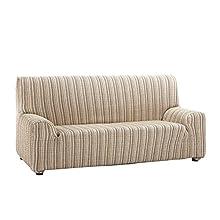 Martina Home Mejico - Elastic Sofa Cover 3 Plazas, 180 a 240 cm de ancho beige