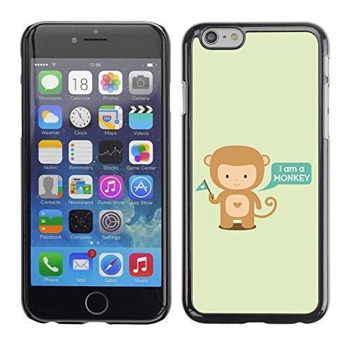 Graphic4You I Am A Monkey Affe Cartoon Tier Design Harte Hülle Case Tasche Schutzhülle für Apple iPhone 6 / 6S Design #4