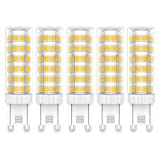 5 Stück G9 LED Leuchtmittel 7W LED Lampe Warmweiß 3000K LED Birne 76 SMD 2835LEDs Hohe Helligkeit 650LM LED Bulb AC220V-240V
