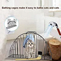 TAKEMORE7 - Jaula para Mascotas de 2 Puertas, para Gatos o Gatos, fácil de bañar, Ligera, Antiarrugas, para Gatos de Menos de 3 Libras, Protege al Propietario de ser Rayado