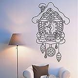 Adesivo murale Adesivi murali Quotazioni Adesivi murali Soggiorno Famiglia Amovibile Impermeabile Regalo Amante Decorazione domestica Orologio a cucù Fata 57x88cm
