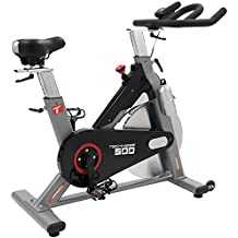 Bicicleta estática Techness Biking 500 + Cinturón cardiaco (24 kg de Rueda ...