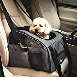 Dark Grey Car Seat Pet Foldable Travel Carrier for Dog Cat
