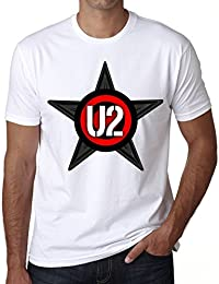 U2 Group Tour T-shirt,cadeau,Homme,Blanc,t shirt homme