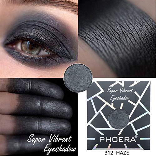 Xmansky Tragbare PHOERA Eyeshadow Schimmer Matt Mineral Pigment Lidschatten Palette Bilden Set,Kann...