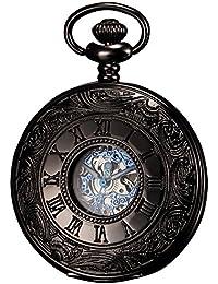 KS KSP032 - Reloj de Bolsillo, Mecánico, Analógico, Caja Azul