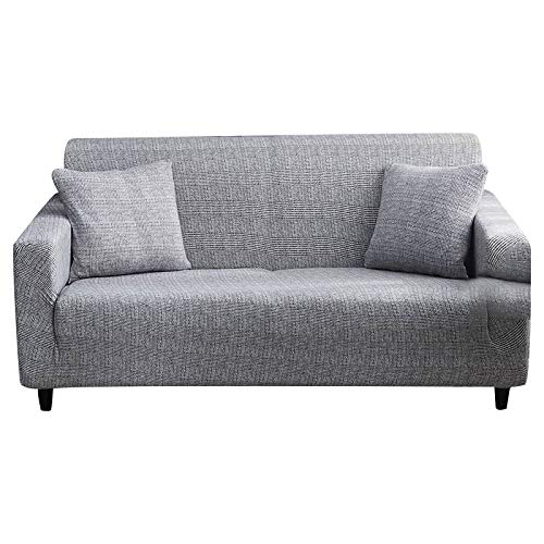 FORCHEER 4 Sitzer Sofabezug Sofaüberwurf Sesselhussen Elastisch Hautfreundlich 225-290cm